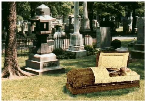 An exclusive photograph of Mr. Petty's funeral